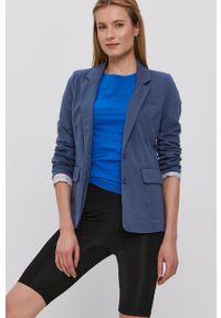 Vero Moda - Marynarka. Okazja: na co dzień. Kolor: niebieski. Materiał: tkanina. Wzór: gładki. Styl: klasyczny, casual
