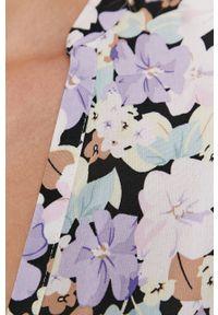 only - Only - Sukienka. Kolor: szary. Materiał: tkanina, wiskoza, materiał. Typ sukienki: rozkloszowane