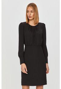 Czarna sukienka Hugo casualowa, na spotkanie biznesowe