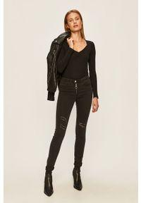 Czarne jeansy Brave Soul w kolorowe wzory