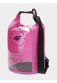 4f - Torba plażowa. Kolor: różowy. Rodzaj torebki: na ramię