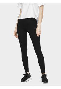 Czarne legginsy sportowe 4f