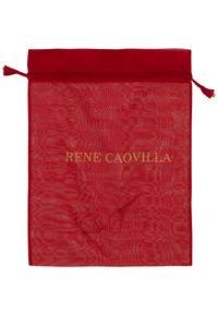RENE CAOVILLA - Białe sneakersy Xtra ze złotymi kryształami. Kolor: biały. Materiał: guma. Wzór: napisy, aplikacja #7