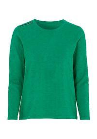 Zielony sweter Cellbes w kropki
