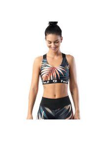 FJ! - Stanik sportowy Coral Paradise. Materiał: żakard, dzianina, elastan, guma, poliester. Sport: fitness, bieganie