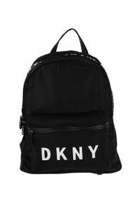 Czarny plecak DKNY z nadrukiem