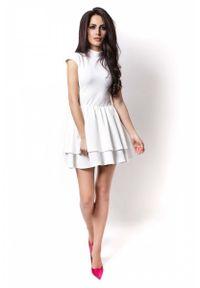 Sukienka z falbanami IVON ze stójką