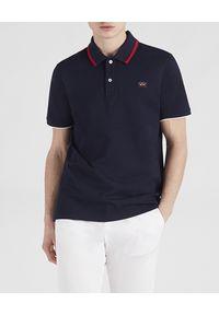 PAUL & SHARK - Koszulka polo z organicznej bawełny. Typ kołnierza: polo. Kolor: niebieski. Materiał: bawełna. Wzór: aplikacja. Sezon: wiosna, lato