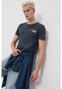 Tom Tailor - T-shirt. Okazja: na co dzień. Kolor: niebieski. Materiał: bawełna, dzianina. Wzór: gładki. Styl: casual
