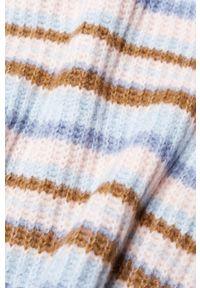 Różowy sweter mango z długim rękawem, długi, casualowy