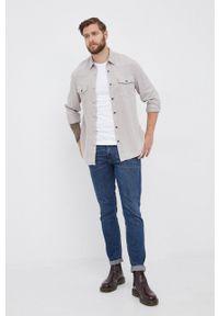 TOMMY HILFIGER - Tommy Hilfiger - T-shirt bawełniany. Okazja: na co dzień. Kolor: biały. Materiał: bawełna. Wzór: nadruk. Styl: casual