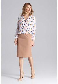 Brązowa spódnica ołówkowa Figl