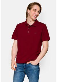 Lancerto - Koszulka Bordowa Polo Patrick. Typ kołnierza: polo. Kolor: czerwony. Materiał: włókno, tkanina, materiał, bawełna. Wzór: ze splotem, gładki. Styl: klasyczny