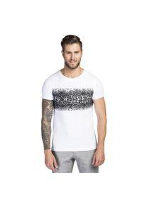 Biały t-shirt Giacomo Conti na co dzień, casualowy, na lato, z nadrukiem