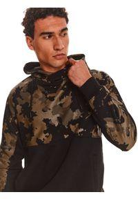 TOP SECRET - Bluza nierozpinana męska reglan, kangurka. Kolor: brązowy #3