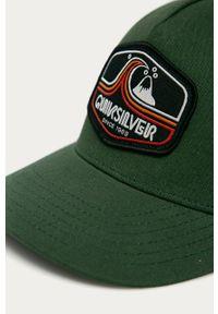 Zielona czapka z daszkiem Quiksilver z aplikacjami