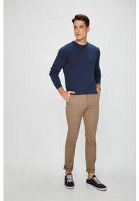 TOMMY HILFIGER - Tommy Hilfiger - Spodnie Denton Chino Org Str Twill. Okazja: na co dzień. Kolor: brązowy. Materiał: tkanina. Wzór: gładki. Styl: casual