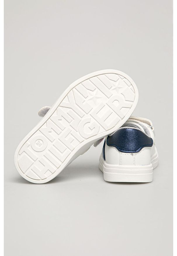 Białe buty sportowe TOMMY HILFIGER z cholewką, na rzepy