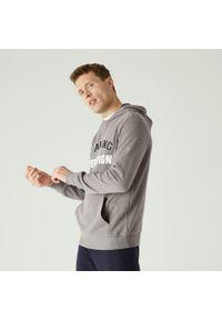 Bluza sportowa DOMYOS na fitness i siłownię, z kapturem