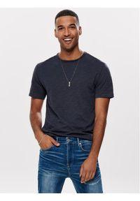Only & Sons - ONLY & SONS T-Shirt Albert 22005108 Granatowy Regular Fit. Kolor: niebieski