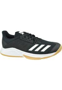 Czarne buty sportowe Adidas z cholewką, w kolorowe wzory, do siatkówki