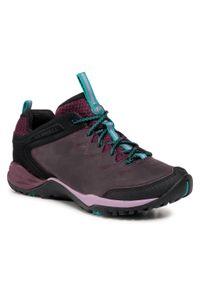 Fioletowe buty trekkingowe Merrell z cholewką