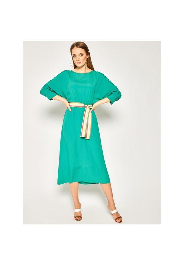 Zielona sukienka Marella na co dzień, prosta, casualowa