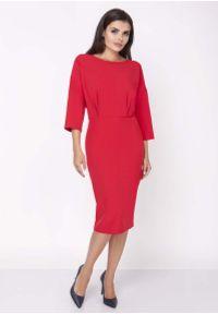 Czerwona sukienka na imprezę Nommo elegancka