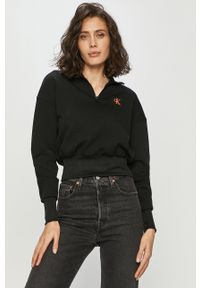 Czarna bluza Calvin Klein Jeans na co dzień, bez kaptura