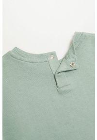 Zielona bluza Mango Kids bez kaptura, z nadrukiem, na co dzień, casualowa