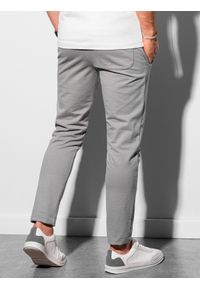 Ombre Clothing - Spodnie męskie dresowe P950 - szare - XXL. Kolor: szary. Materiał: dresówka