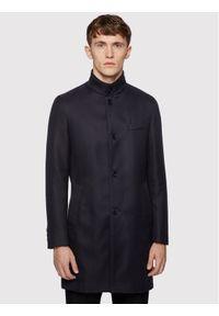 Niebieski płaszcz przejściowy BOSS