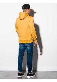 Żółta bluza Ombre Clothing z kapturem