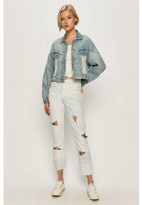 Niebieskie jeansy Levi's® na spotkanie biznesowe, w kolorowe wzory, z podwyższonym stanem, biznesowe