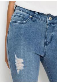 Dżinsy Super Skinny bonprix jasnoniebieski denim. Kolor: niebieski