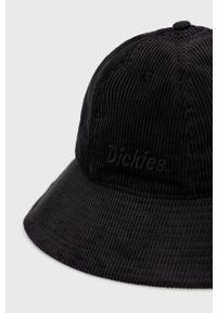 Dickies - Kapelusz sztruksowy. Kolor: czarny. Materiał: sztruks