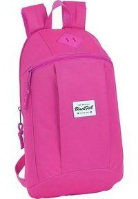 Różowy plecak casualowy