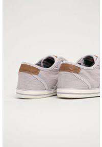 Mustang - Tenisówki. Nosek buta: okrągły. Zapięcie: sznurówki. Kolor: fioletowy. Materiał: guma