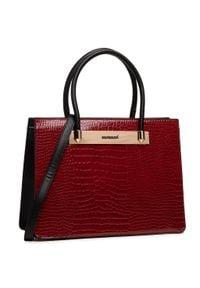 Monnari - Torebka MONNARI - BAG0350-005 Red. Kolor: czerwony. Materiał: skórzane. Styl: elegancki, klasyczny, casual