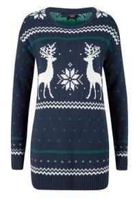 Zielony sweter bonprix na zimę