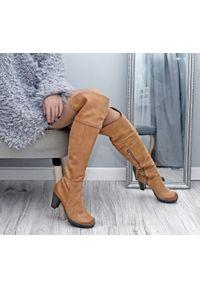 Kozaki Zapato z cholewką za kolano, wąskie