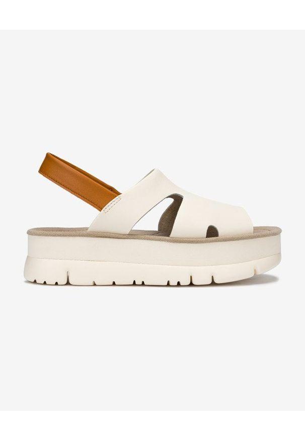 Sandały Camper na platformie, bez zapięcia, w kolorowe wzory