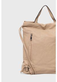 Answear Lab - Plecak. Kolor: beżowy. Styl: wakacyjny