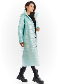 Miętowy płaszcz Awama