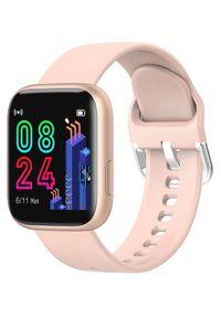Złoty zegarek GARETT sportowy, smartwatch