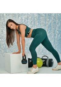 FJ! - Legginsy Push-up EMERALD. Stan: podwyższony. Materiał: poliester, elastan, materiał. Sport: fitness