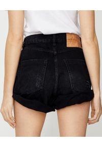ONETEASPOON - Czarne spodenki Bandits High Waist. Stan: podwyższony. Kolor: czarny. Materiał: jeans. Wzór: aplikacja #5