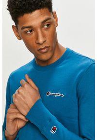 Champion - Bluza 214781. Okazja: na co dzień. Kolor: niebieski. Materiał: dzianina. Wzór: aplikacja. Styl: casual