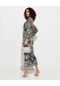 Szara sukienka Camilla midi, rozkloszowana, elegancka