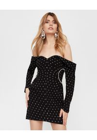 SELF PORTRAIT - Sukienka z odkrytymi ramionami. Kolor: czarny. Typ sukienki: z odkrytymi ramionami. Długość: mini